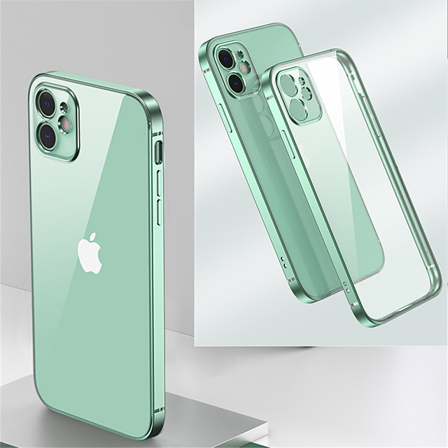 Case for Apple iPhone 11 Shockproof Plating Back Cover Transparent TPU