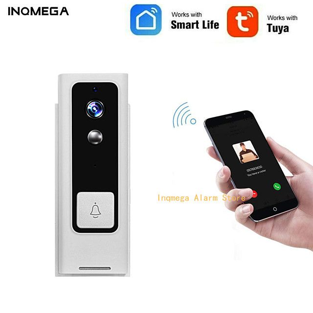 INQMEGA Tuya Smart Life Wireless WiFi Video Intercom Doorbell 720P Phone Call Door Bell Home Security Night Vision Camera