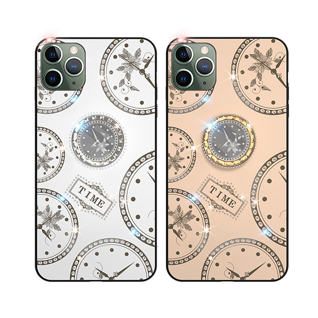 Case For Apple iPhone 6 6s 7 8 6plus 6splus 7plus 8plus X XR XS XSMax SE(2020) iPhone 11 11Pro 11ProMax  Rhinestone Ring Holder Pattern Back Cover Word Phrase TPU