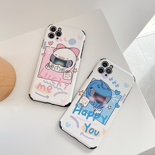 Case For Apple iPhone 7 8 plus SE 2020 X XS XR XS max  11 11 Pro 11 Pro Max Pattern Back Cover  Cartoon TPU Embossed cute LOVELY word phrase