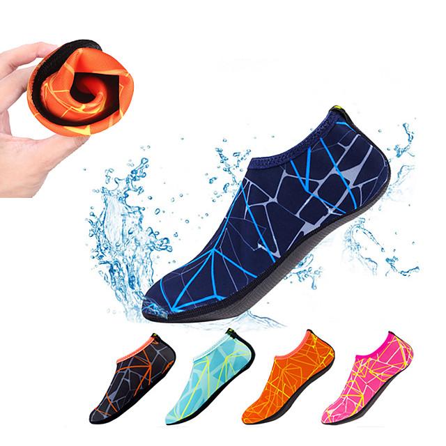 Men's Women's Water Socks Aqua Socks Polyester Quick Dry Anti-Slip Barefoot Yoga Swimming Diving Snorkeling Water Sports - for Adults