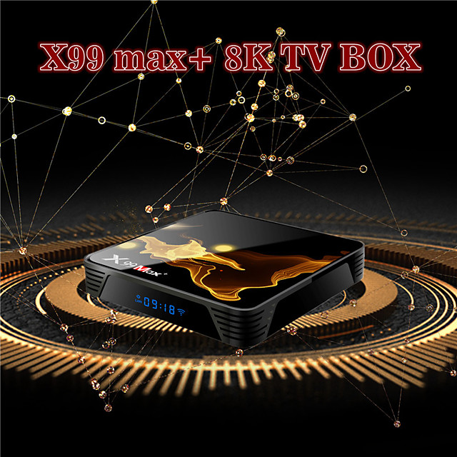 X99MAX 4GB 32GB S905X3 TV Box 8k HD Quad Core HDMI 2.1 Media Player Android 9.0 Wifi 4.1 Bluetooth Set Top Box