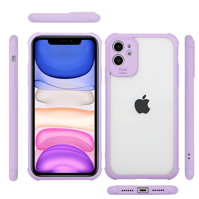Case For Apple iPhone 7 7P iPhone 8 8P iPhone X iPhone XS XR XS max iPhone 11 11 Pro 11 Pro Max Shockproof Transparent Back Cover Solid Colored TPU