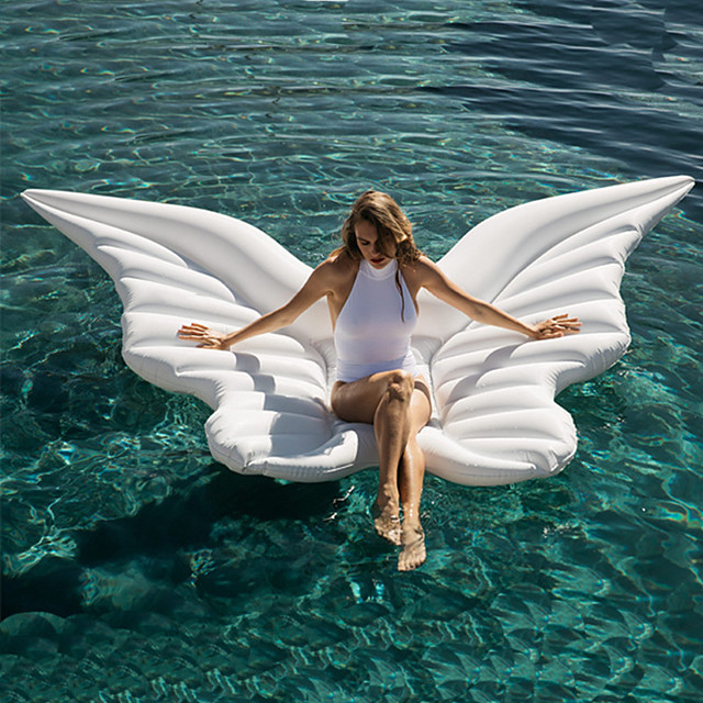 Inflatable Pool Float Water Lounge Floating PVC Summer Butterfly Angel Wings Holiday Swimming Pool Party Kid's Adults'