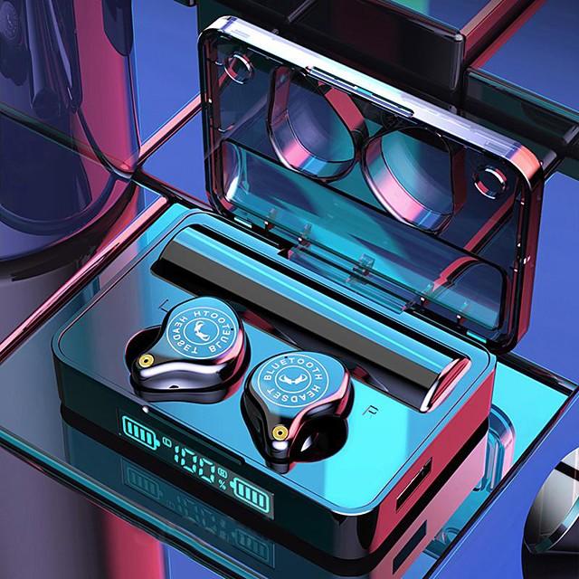 XSPLUS True Wireless 5.0 Headphones Bluetooth 5.0 Headset LED Digital Display Binaural In-ear Sports Running Long Smart Touch Auto Pairing 3600mAh Power Bank for Smartphones