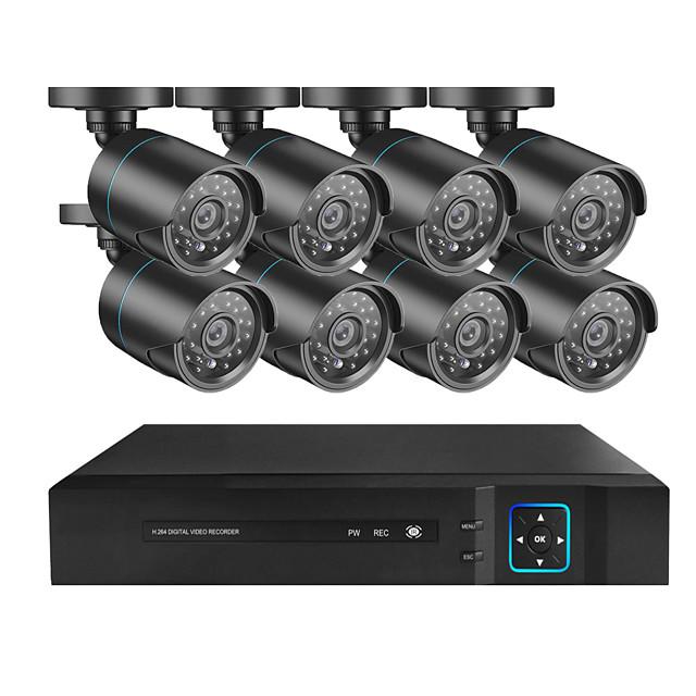 8CH 1080P HD DVR Kit CCTV Security System 8PCS 2MP IR Outdoor Waterproof AHD Camera P2P Video Surveillance Set
