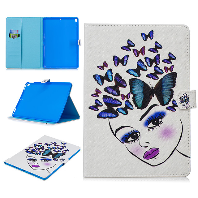 Case For Apple iPad air 1 air2 air3 pro 10.2 10.5 11 inches  9.7 inches 2019 2018 2017 Card Holder Shockproof Pattern Full Body Cases Animal PU Leather TPU Auto Sleep Wake Up magnetic buckle