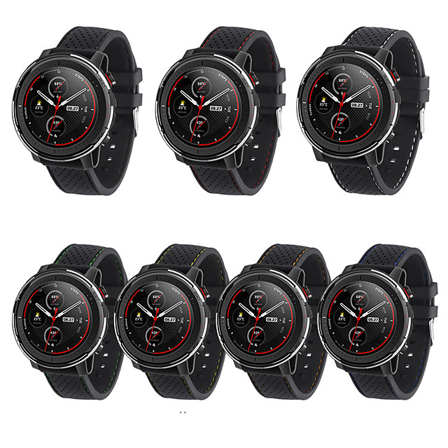 Watch Band for Huami Amazfit Stratos Smart Watch 2 2S Amazfit Sport Band Silicone Wrist Strap