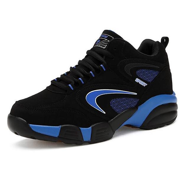 Homme Chaussures d'Athlétisme Chaussures de confort De plein air Basketball / Chaussures de course sur sentier Cuir Nubuck Noir / Rouge / Bleu Printemps / Automne / EU40