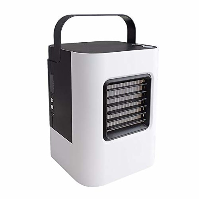 mini air conditioner mini air cooler personal portable water cooling fan moving small air conditioner usb silence,black