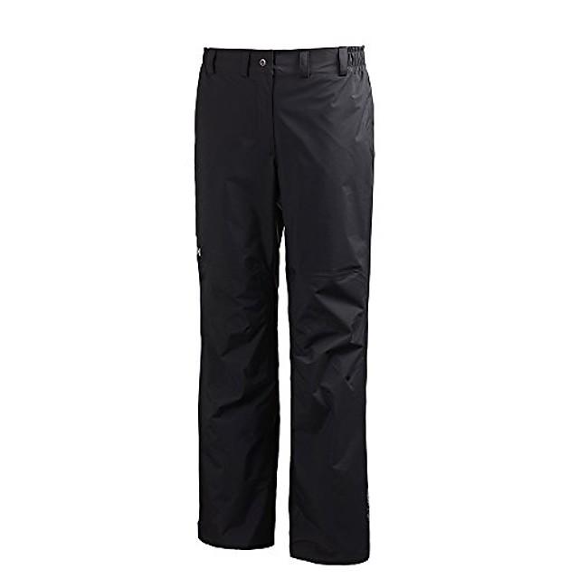 helly hansen women's packable pant waterproof windproof breathable rain outdoor pants, 991 black, small
