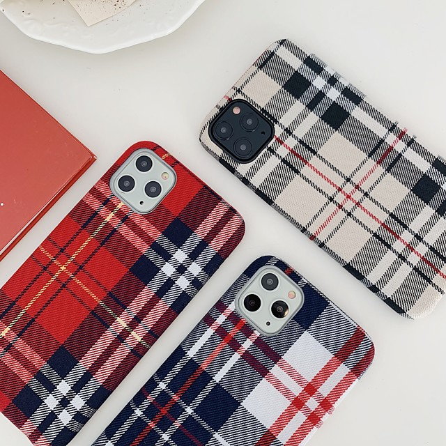 Case For Apple iPhone 7 8 7plus 8plus X XR XS XSMax SE(2020) iPhone 11 11Pro 11ProMax Shockproof Ultra-thin Pattern Back Cover Geometric Pattern Textile TPU