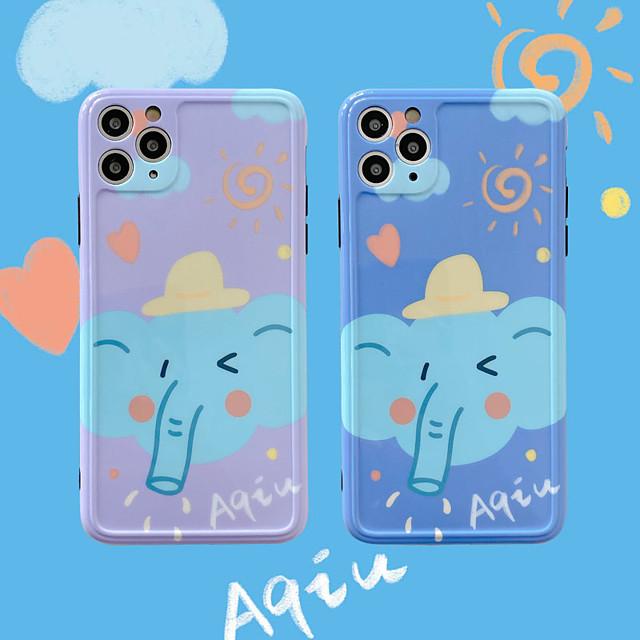 Cartoon Elephant Pattern IMD Case For Apple iPhone 11 Pro Max 8 Plus 7 Plus 6 Plus Max Back Cover
