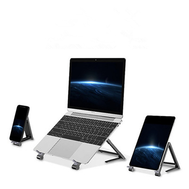 1Pcs Metal Mini Folding Fan Hot Laptop Stand Phone Tablet 3-in-1 Aluminum Alloy Computer Stand