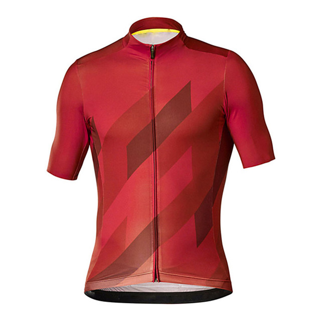 21Grams Men's Short Sleeve Cycling Jersey Red Blue Bike Jersey Top Mountain Bike MTB Road Bike Cycling UV Resistant Breathable Quick Dry Sports Clothing Apparel / Stretchy