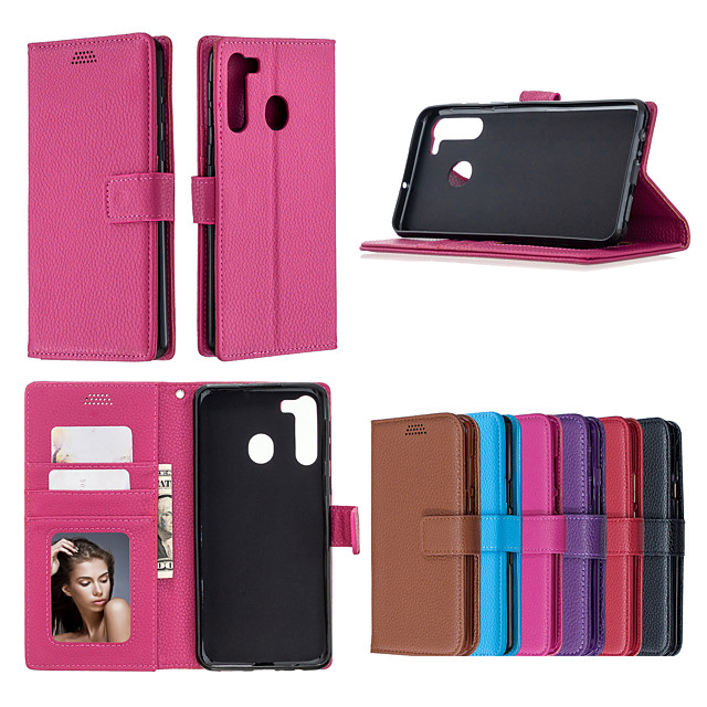 Case For Samsung Galaxy NOTE 9 S9 S9 PLUS A6 A6 PLUS A6S A7 A8 J4 J4 PLUS J6 J6 PLUS J8 S20 S20PLUS S20ULTRA Xcover pro NOTE20 Card Holder Shockproof  Flip Full Body Cases Solid Colored PU Leather TPU