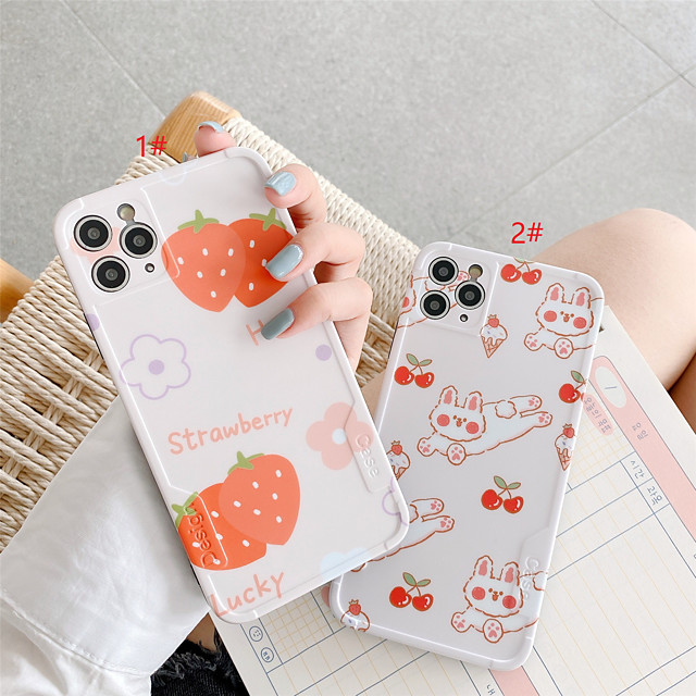 IMD Design Summer Fruit TPU for Apple iPhone Case 11 Pro Max X XR XS Max 8 Plus 7 Plus SE(2020) Protection Cover