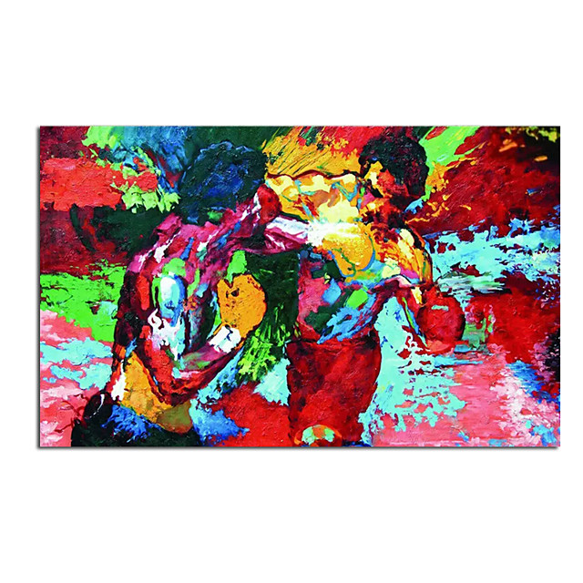 Oil Painting Hand Painted - Abstract People Comtemporary Modern Rolled Canvas (No Frame)