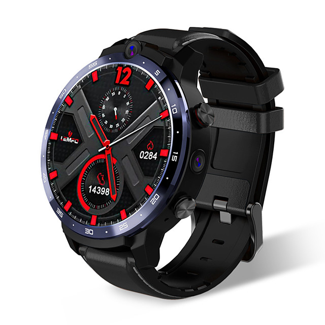 LEMFO LEM12 2020 Newest Face ID 1.6 Inch Dual Camera LTE 4G Smart Watch Android 7.1 3GB 32GB 1800mah Battery Men Smartwatch