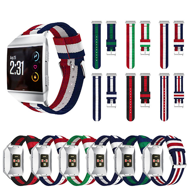For Fitbit Ionic Bands Breathable Comfortable Adjustable Wrist Replacement Nylon sport WristBands for Fitbit Ionic