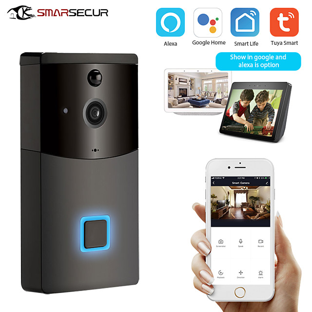 Tuya Smart Wifi Doorbell Rainproof Intercom PIR Motion Detector Night Vision Security Camera