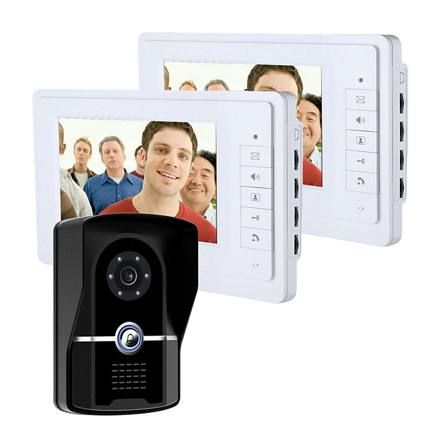 Wired 7 Inch Monitor Video Doorbell Intercom with Infrared Night Vision Camera Video Doorphone System