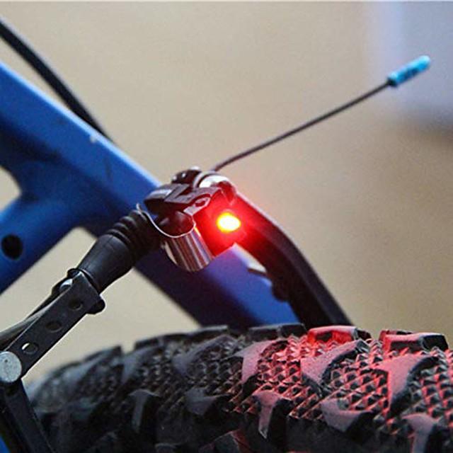 bike brake light mount tail rear bicycle cycling red led safety warning lamp
