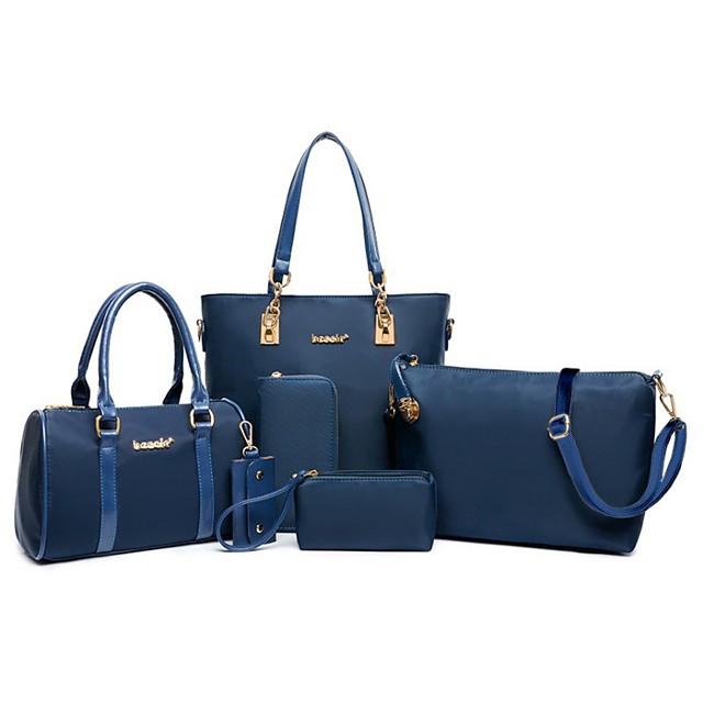 womens ladies 6 pcs handbag set hobo top handle bag totes satchels crossbody shoulder bags and purse clutch