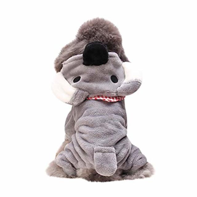 pet cat dog puppy warm knit coat clothes vest jacket apparel costume gray