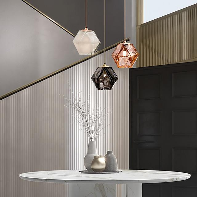 15 cm Single Design Pendant Light Metal Glass Electroplated Nordic Style 110-120V 220-240V
