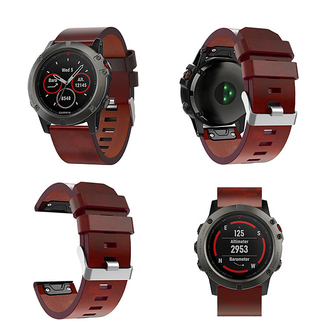 Watch Band for Fenix 5x Fenix 3 HR Fenix 3 Garmin Classic Buckle Genuine Leather Wrist Strap