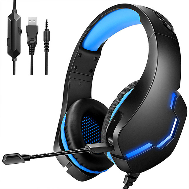 LITBest J10 PC Gamer Headset PS4 Gaming Headphones Stereo Mobile Game Earphone With Mic LED Light for Computer Phone Laptop
