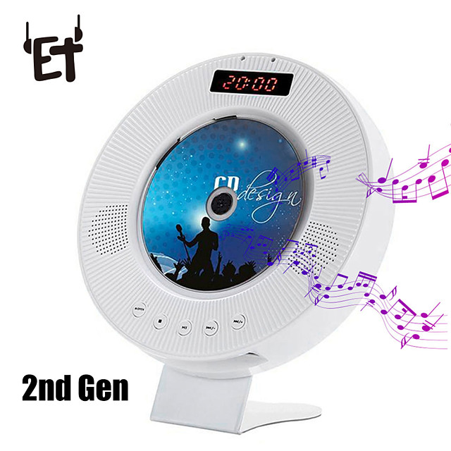 Wall Mounted CD Player Surround Sound DVD FM Radio  USB MP3 Disk Portable Music Player Remote Control With LED Display