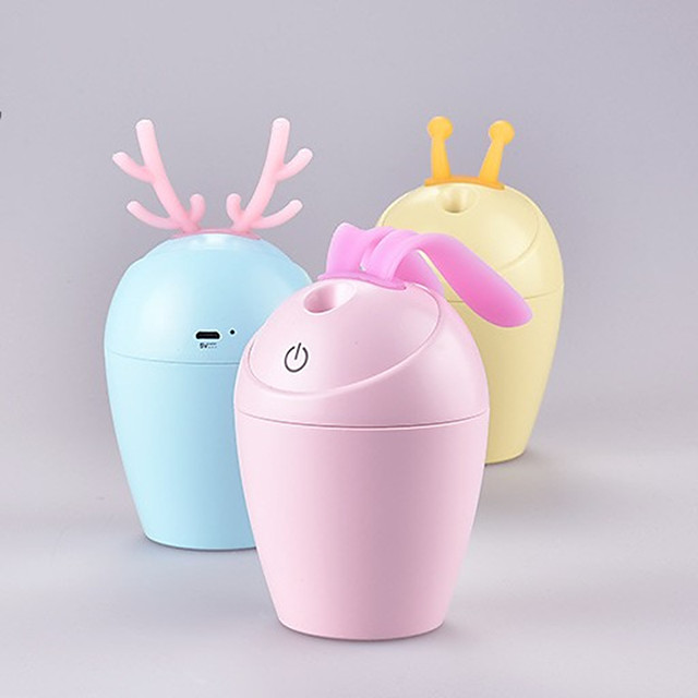 Girls Gift Cartoon Antler Humidifier Usb Plug-In Humidifier Household Multi-Functional Colorful Timed Desktop Air Humidifier