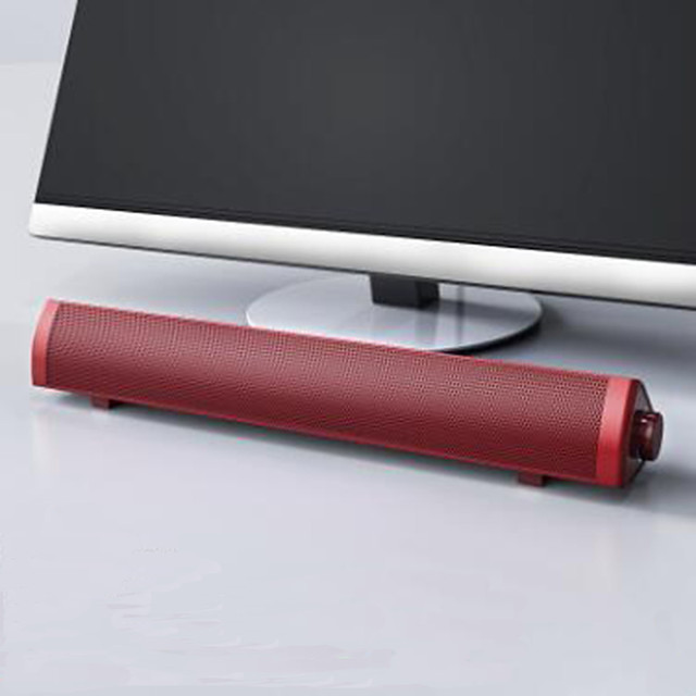 USB Power Sound Bar Computer Speakers Portable Wired Soundbar Speakers for Pc Surround Sound with Built-in Subwoofers
