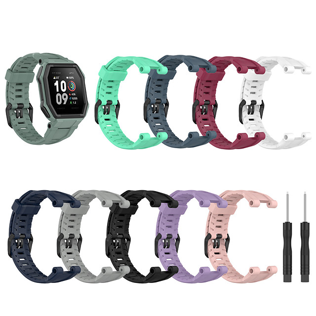 Watch Band for Amazfit Ares Amazfit Sport Band / Classic Buckle Silicone Wrist Strap