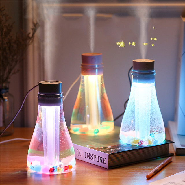 Wishing Bottle Humidifier Usb Seven Color Night Lamp Humidifier 500Ml Large Capacity Spray Humidifier