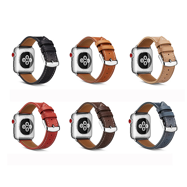 Watch Band for Apple Watch Series 5 4 3 2 1 Apple Watch Series 6 Apple Watch SE Apple Leather Loop Genuine Leather Wrist Strap