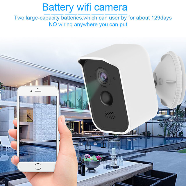 Wireless Security Camera Outdoor Indoor  Rechargeable Battery Powered WiFi Camera IP65 Waterproof Night Vision1080P Home Security Camera with Motion Sensor Two-Way Audio Support TF Card/Cloud Storage