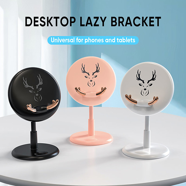Cartoon Phone Holder Stand Round Cute Bracket For iphone Samsung Mobile Phone Desktop Tablet For ipad Support ABS Stand