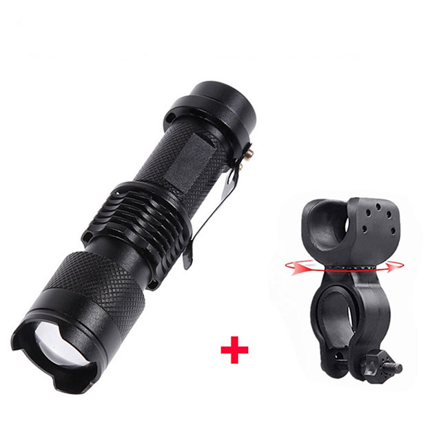 LED Bike Light Waterproof 360° Rotation Front Bike Light LED Bicycle Cycling Professional Adjustable Lightweight Rechargeable Li-ion Battery AA / 14500 3000 lm Batteries Powered Natural White Camping