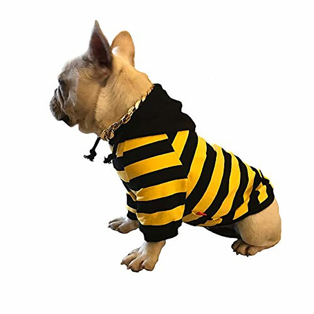 dog clothes small dog jacket classic hoodies dog sweater vintage washed clothes waterproof silk cotton warming puppy clothes for autumn winter and spring (s, black)