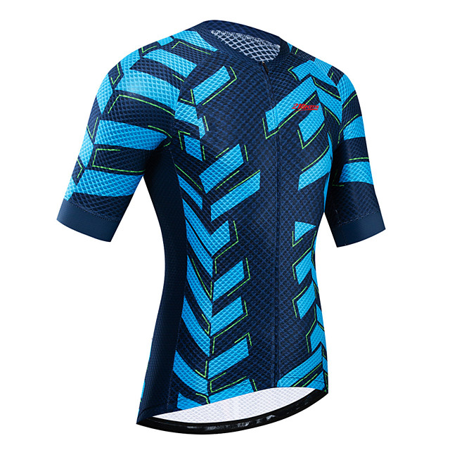 21Grams Women's Short Sleeve Cycling Jersey Summer Blue Bike Jersey Top Mountain Bike MTB Road Bike Cycling UV Resistant Breathable Quick Dry Sports Clothing Apparel / Stretchy / Race Fit