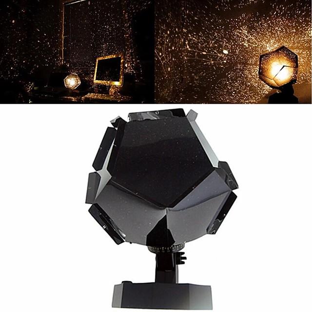 Romantic Planetarium Star Projector Galaxy Projector Night Light LED Projection Lamp For Home Planetarium Decoration Kids Bedroom Gift DIY Lights