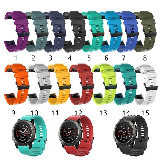 Watch Band for Fenix 5s Garmin Classic Buckle Silicone Wrist Strap