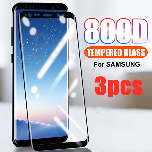 3PCS Full Curved Tempered Glass For Samsung Galaxy S21 S21 Ultra Note 20 Screen Protector For Samsung Galaxy S20 S20Plus S10 S10 lite Note 10  Protective Film