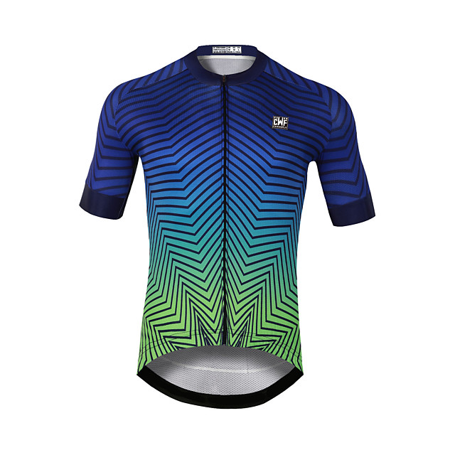 CAWANFLY Men's Short Sleeve Cycling Jersey Mineral Green Bike Jersey Top Mountain Bike MTB Road Bike Cycling Quick Dry Sports Clothing Apparel / Stretchy