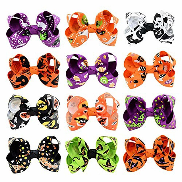 pet fashion dog hair clips pins halloween them pet grooming hair accessories hair bows for puppy (halloween theme clips)