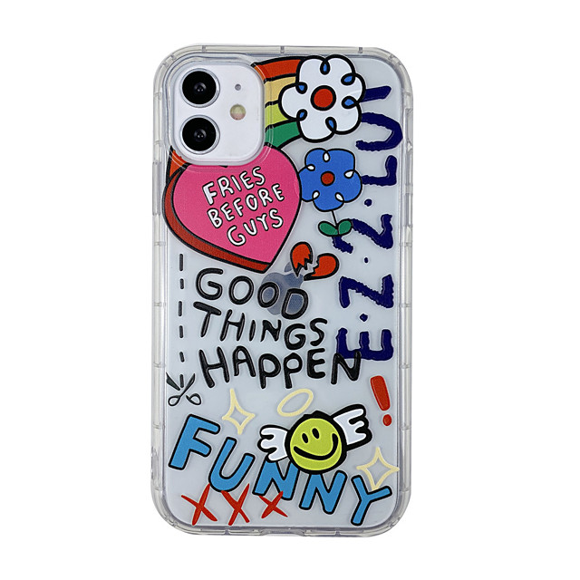 Personalized Case For Apple iPhone 12 Unique Design Cartoon Pattern Back Cover Transparent TPU Material Mobile Phone Case For iPhone 11 Pro Max XS Max XR X 7 8 Plus 6 6s Plus