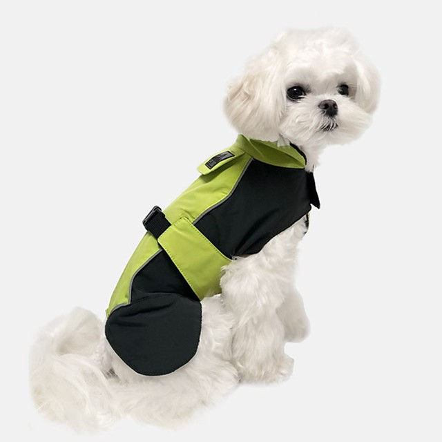 Dog Jacket Color Block Casual / Sporty Illuminated Casual / Daily Outdoor Winter Dog Clothes Puppy Clothes Dog Outfits Breathable Blue Orange Green Costume for Girl and Boy Dog Jeans S M L XL XXL 3XL